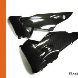 APRILIA RSV4 CARBON FIBRE BELLY PANS PANELS IN TWILL GLOSS FIBER (PAIR) BELLYPAN