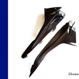 BMW S1000RR 2015 ONWARDS CARBON FIBRE UPPER FAIRING INFILL PANELS TWILL FIBER