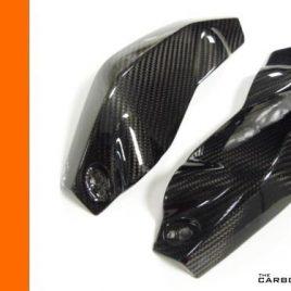 KTM DUKE 125 200 390 CARBON FIBRE HEADLAMP SIDE FAIRING TRIMS 2011-16 FIBER