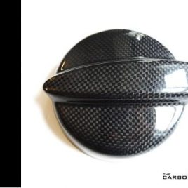 REAL CARBON FIBRE MINI PETROL CAP COVER (LIKE JCW) R53 COOPER S PLAIN WEAVE