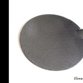 REAL CARBON FIBRE MINI PETROL FLAP COVER PAIR LIKE JCW SEE DESCRIPTION PLAIN 3K