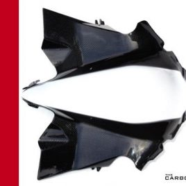DUCATI PANIGALE 899 1199 1299 CARBON AIR DUCT COVERS INTAKE TUBES PLAIN GLOSS