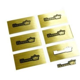 THE CARBON KING STICKER PACK X6 STICKERS MADE WITH GOLD FOIL SIZE SIZE SMALL