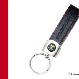 THE CARBON KING LUXURY LEATHER KEYRING MADE IN PORTUGAL FOR MOTORBIKE MOTORCYCLE