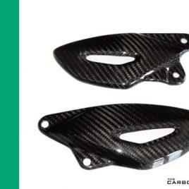 THE CARBON KING STREET TRIPLE CARBON FIBRE HEEL GUARDS 2007 - 2012 FIBER TRIUMPH