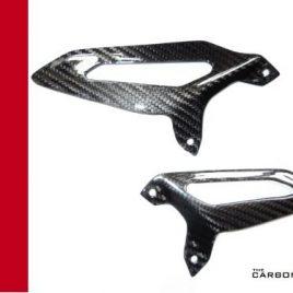 DUCATI PANIGALE 899 1199 1299 CARBON FIBRE RIDERS HEEL GUARDS TWILL GLOSS FIBER
