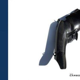 YAMAHA R1 2007-08 CARBON FIBRE SIDE EXHAUST HEAT SHIELD IN TWILL WEAVE FIBER 1PC